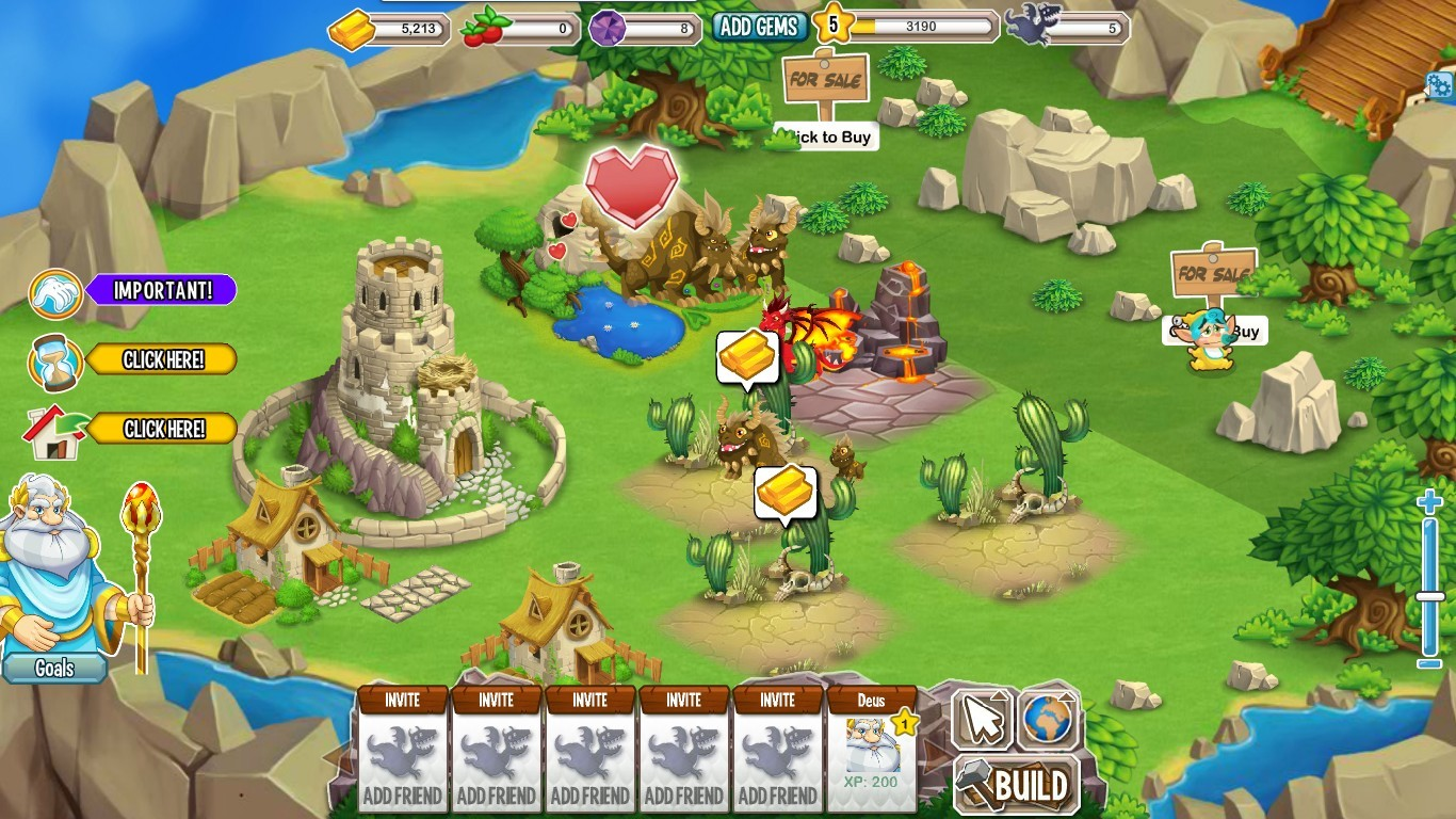 Dragon City is a Facebook game developed by Spanish developer Social Point. Dragon City revolves around building habitats for dragons, hatching dragon eggs, breeding types of dragon together and ensuring that the player's increasingly large menagerie stays well fed.