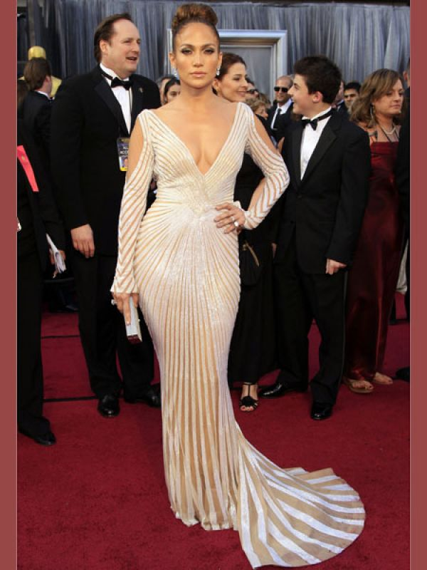 Jennifer Lopez: Jennifer's peek-a-boo moment didn't go down too well with many at the Oscars this year. JLo wore a sexy number by Zuhair Murad with a plunging neckline. The outfit made headlines when her nipple popped out at the award ceremony.