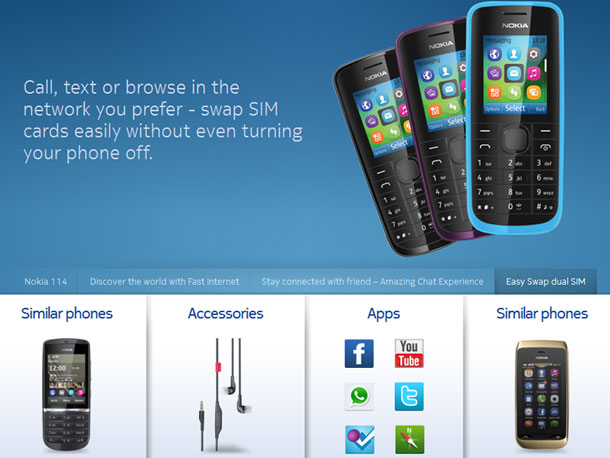 While Nokia is yet to properly introduce this new mobile phone to the press, their Indian website has already published its details. This is a dual-SIM mobile phone that should be extremely affordable, designed for families that use one device with swappable SIM cards. Unlike other mobiles, this one does not require the phone to be turned off.