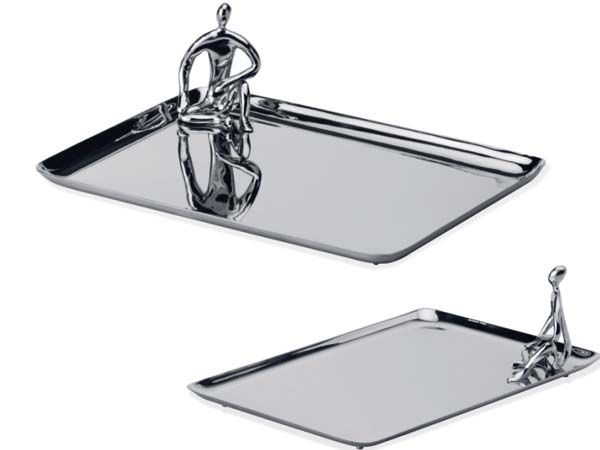 Let Mukul Goyal's little people serve you cheese on this silver platter.