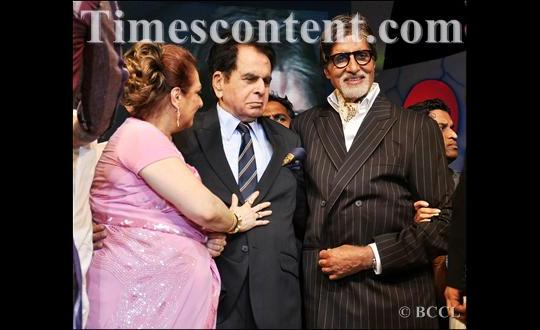 Saira Banu, Dilip Kumar and Amitabh Bachchan during 'Dadasaheb Phalke Academy Awards 2012'