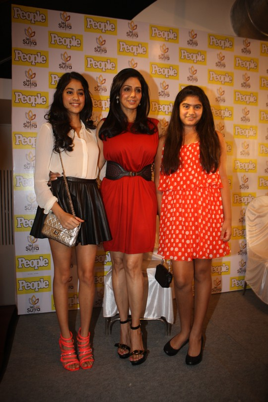 Having made a super-successful comeback with English Vinglish, Sridevi and her two daughters Jhanvi and Khushi have posed on the cover of a magazine. The entire family launched the cover at an event in Mumbai.Courtesy: People Magazine