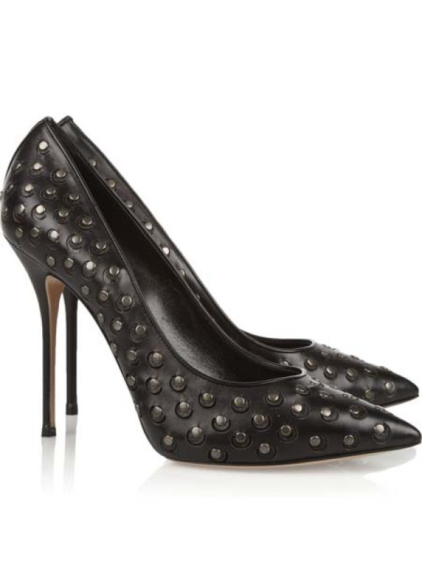 Studded leather pumps by Casadei