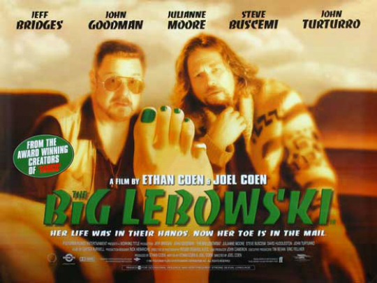 The Big Lebowski (1998) - You only have to see it once to ensure that you'll be going back to this knee-slapping comedy again and again over the course of your life because it just gets better every time. And once you have, there's no chance you might be hesitant or confused as to why it is quite simply one of the funniest movies of all time! 