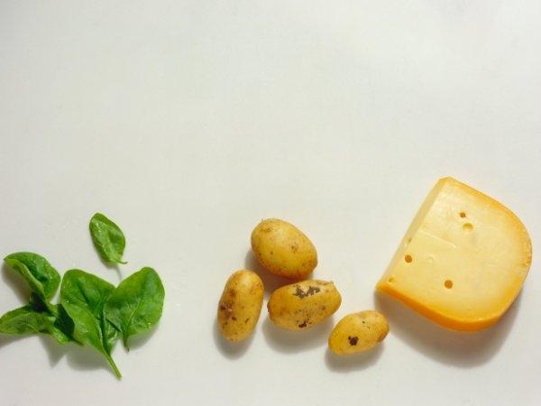 potato spinach corn