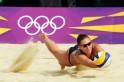 Russia's Anna Vozakova stretches for the