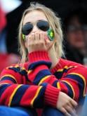 Colourful Wimbledon fans