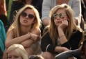 Fans React During Andy Murray's Quarter Final Match At Wimbledon