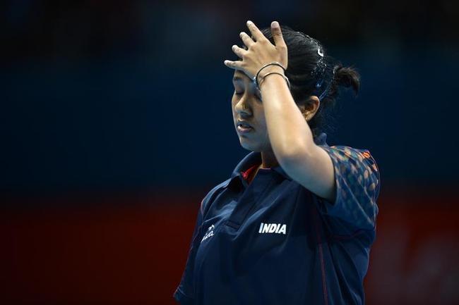 Paddler Ankita Das crashes out