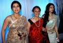 Indian Bollywood film actress Kajol (L),
