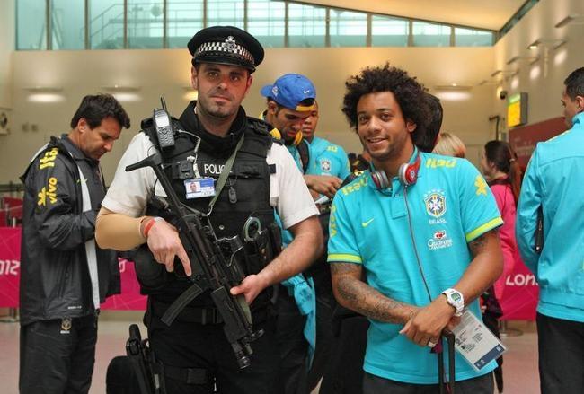 Olympics - Brazil Football Team Arrive - Heathrow Airport