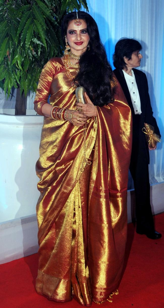 Indian Bollywood film actress Rekha pose