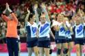 British handball players react after bei