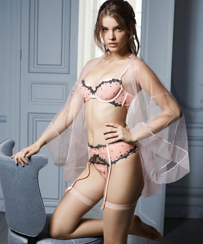 Barbara Palvin posing for the launch of the first Victoria
