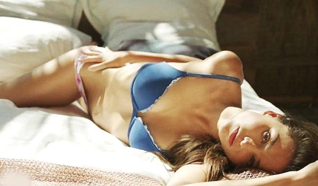 Miranda Kerr posing for Victoria