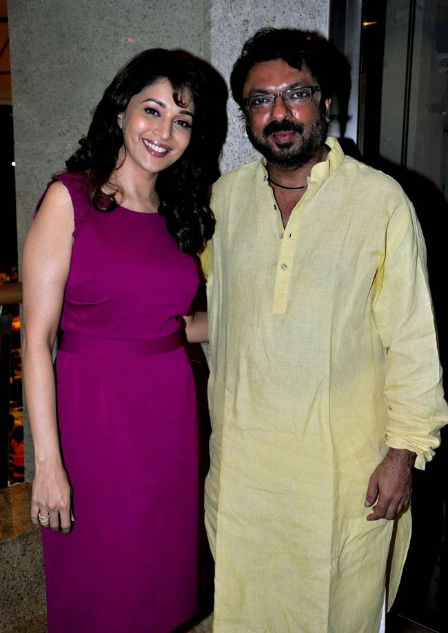 Madhuri Dixit and Sanjay Leela Bhansali