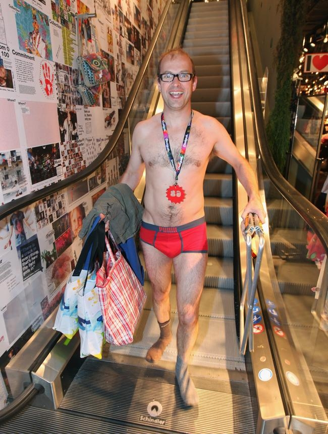 Semi-naked shopping bonanza