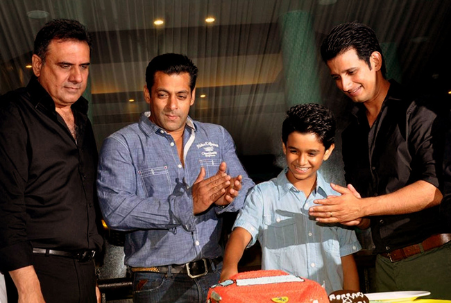 Boman, Irani, Salman Khan, Sharman Joshi and Ritvik Sahore