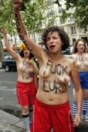 Ukrainian topless FEMEN protests