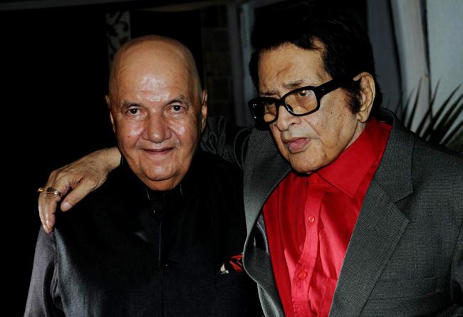 Prem Chopra and Manoj Kumar