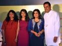 Film's director Bela Sehgal, Madhuri Dixit, Farah Khan and Boman Irani