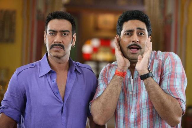 Ajay Devgn and Abhishek Bachchan