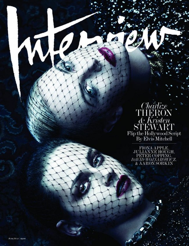 American actresses Charlize Theron and Kristen Stewart for Interview Mag - June/July 2012