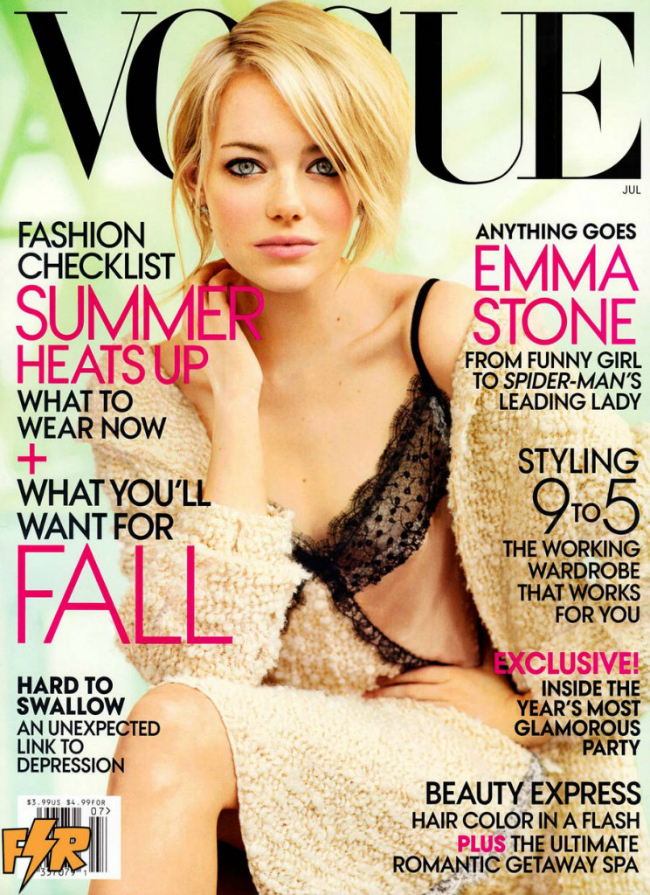 American actress Emma Stone for Vogue - July 2012