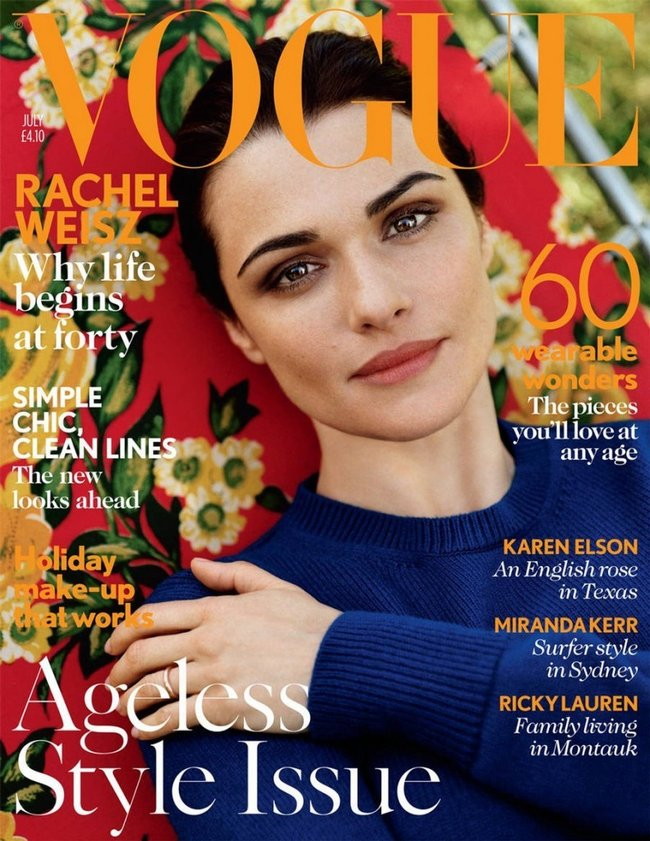 English actress Rachel Weisz for Vogue (UK.) - July 2012
