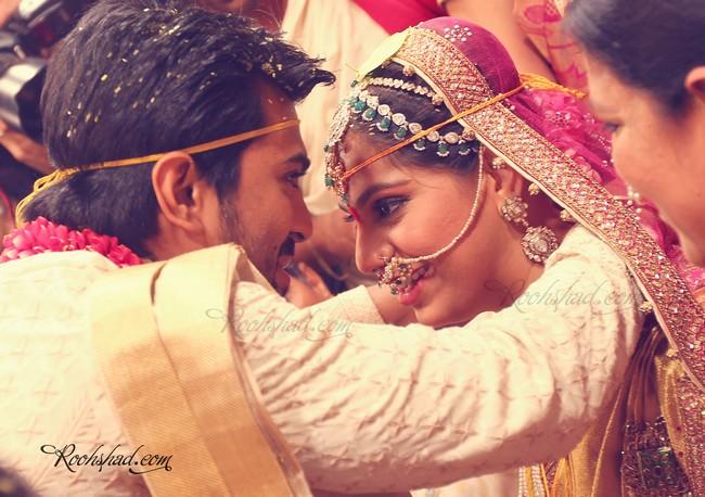 Charan-Upasna's star studded wedding took place at theKaminenifarmhouse.