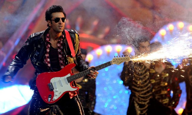 Bollywood actor Ranbir Kapoor performs on the stage during the International Indian Film Academy (IIFA) awards ceremony in Singapore.