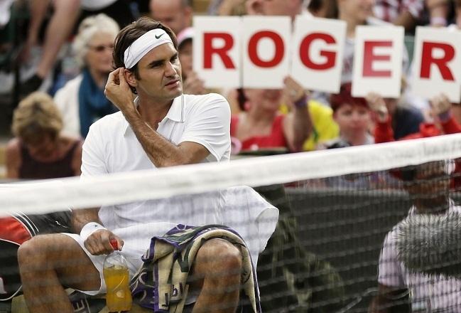 Everybody loves Roger! I wonder if I should get my hair insured?Switzerland's Roger Federer