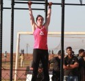 """What is CrossFit?     Denise Thomas breaks it down for you, """"Crossfit is functional movement, constantly varied executed at high intensity. Functional movements is what we do everyday like sitting down and getting back up, that is called a squat; or if"""
