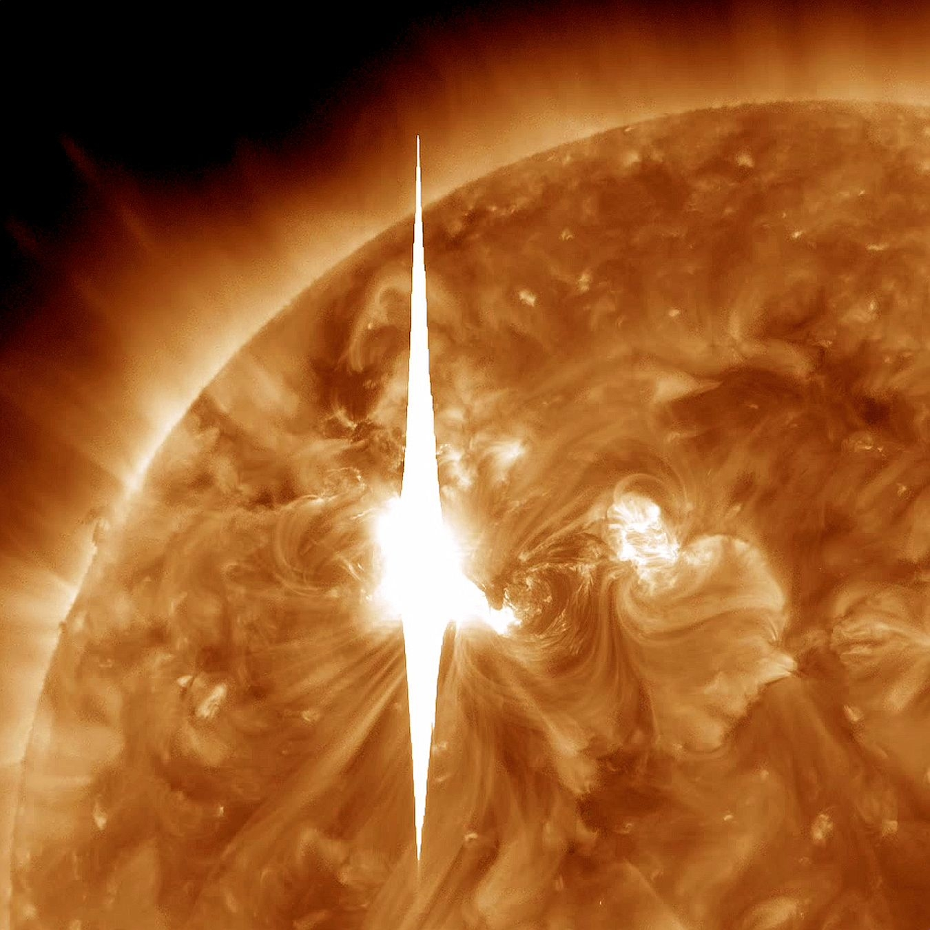 Biggest solar storm in five years