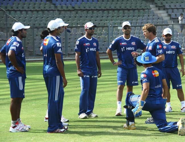 Mumbai Indians practice session