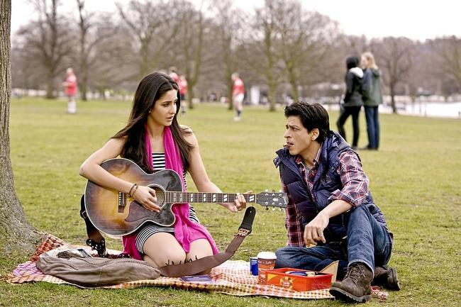 Yash Chopra's forthcoming directorial venture starring Shah Rukh Khan, Katrina Kaif and Anushka Sharma, went on floors in London on Feb 22, 2012.