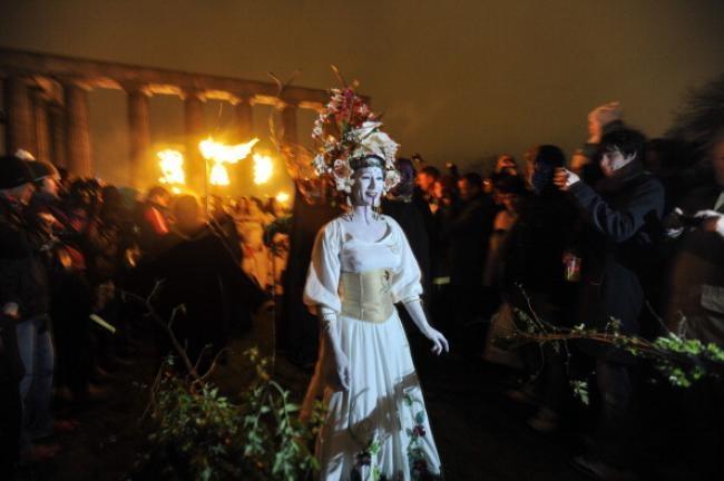 Performers take part in Edinburgh
