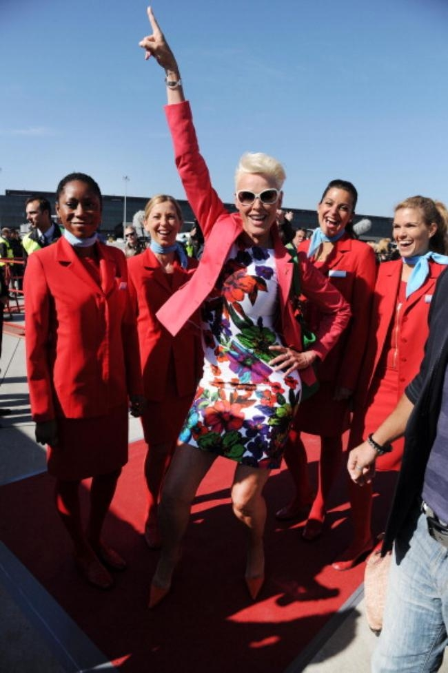 Life Ball Plane From NY Arrives To Vienna