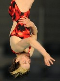 Athletes compete during the final of the 2012 European Diving Championships in Eindhoven.