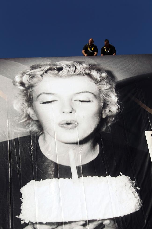 The official poster of the 65th Cannes film festival featuring Marilyn Monroe