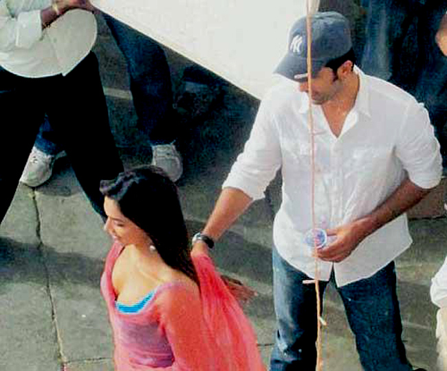 Ranbir-Deepika on the sets of Yeh Jawani Hai Deewani