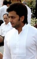Ritesh Deshmukh attends the funeral