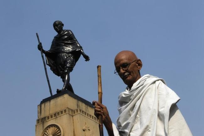 Dressing Up as Mahatma Gandhi