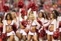 Cheerleaders Outshine Football Stars
