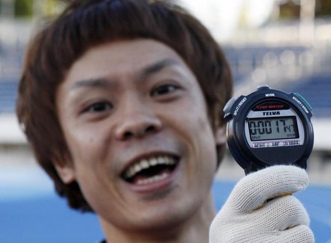 Fastest Four-Limbed 100m Sprint