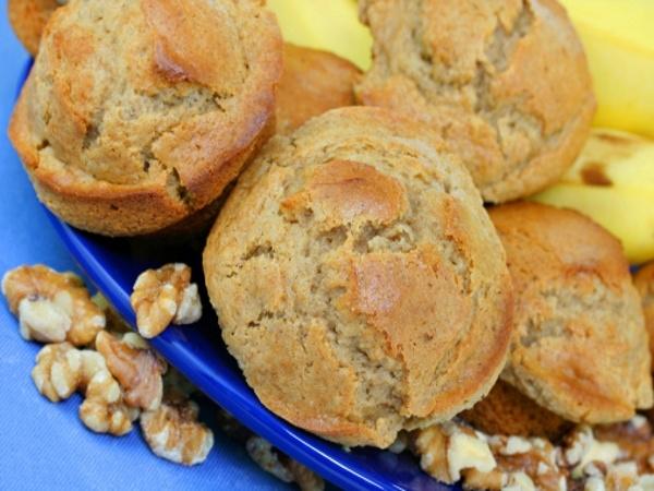 Banana Apple Cranberry Muffins