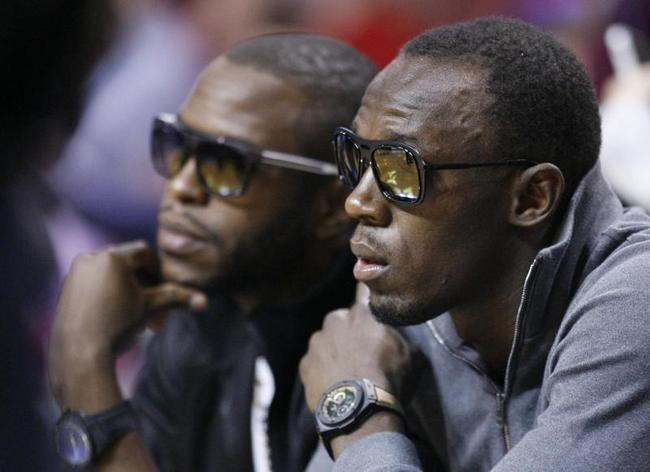 Usain Bolt is a NBA Fan