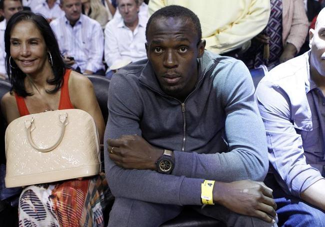 Usain Bolt is a NBA Fan
