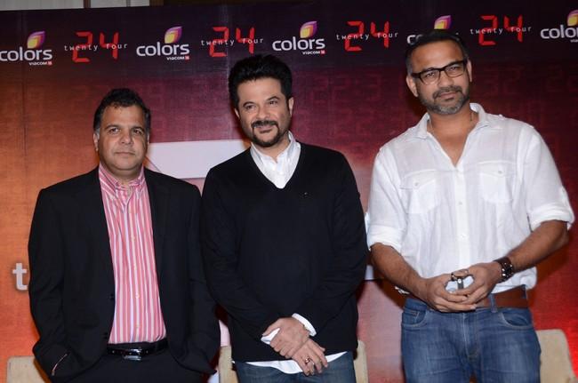 The 24 trio- Raj Nayak, Anil Kapoor, Abhinay Deo