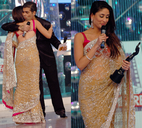 Kareena Kapoor during the 53rd Fair One Filmfare Awards at Yashraj Studios, on 23rd February 2008.